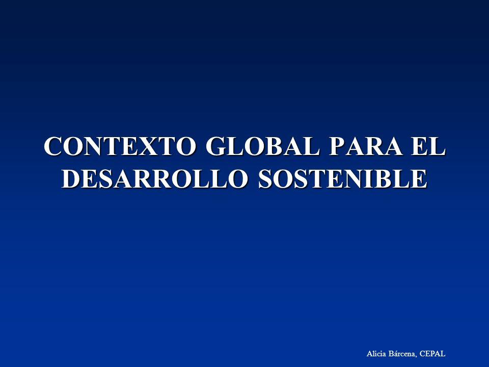 CONTEXTO GLOBAL PARA EL DESARROLLO SOSTENIBLE