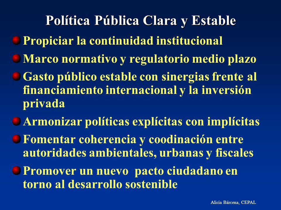 Política Pública Clara y Estable