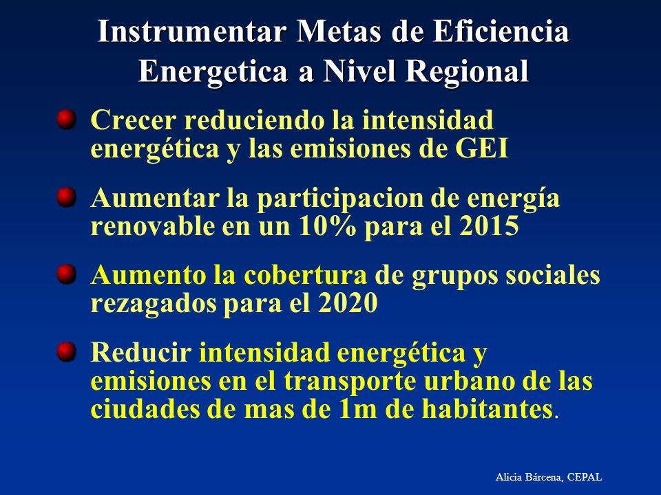 Instrumentar Metas de Eficiencia Energetica a Nivel Regional