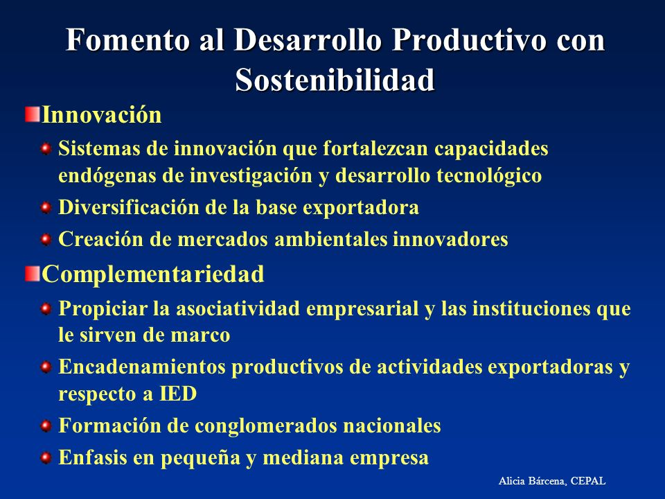 Fomento al Desarrollo Productivo con Sostenibilidad