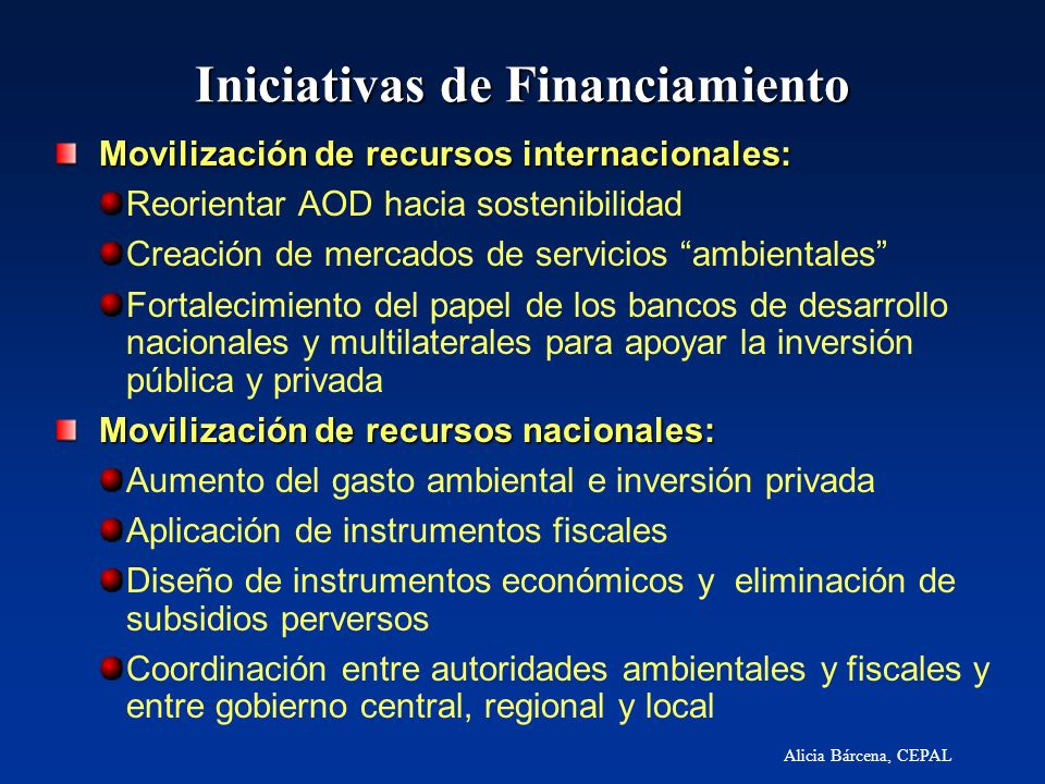 Iniciativas de Financiamiento
