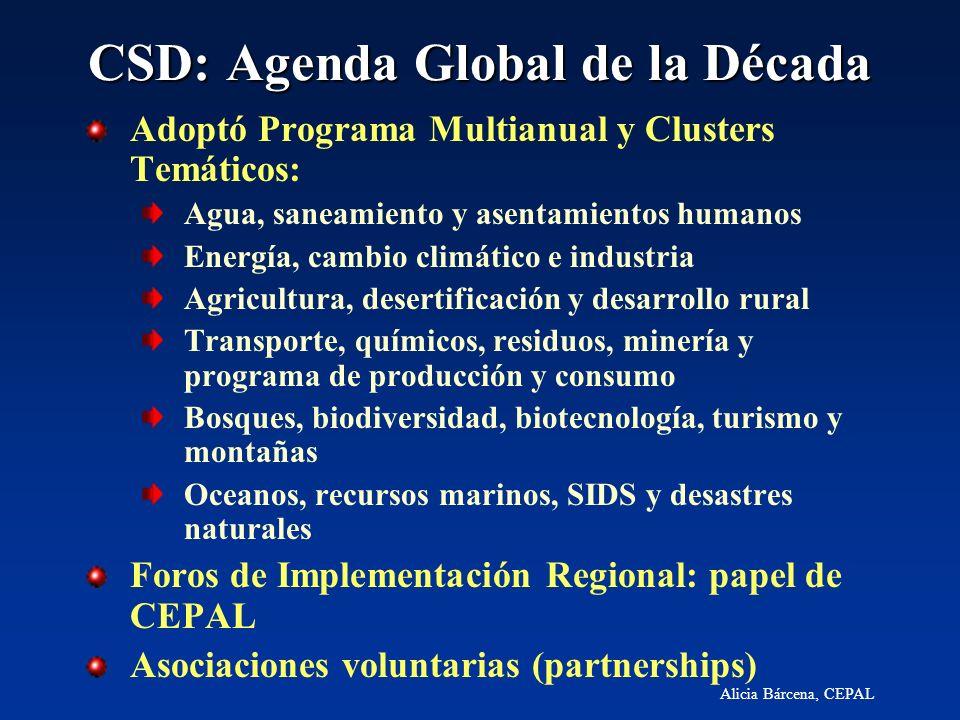 CSD: Agenda Global de la Década