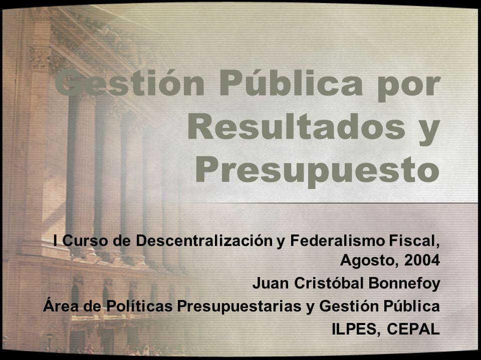 Gestión Pública por Resultados y Presupuesto