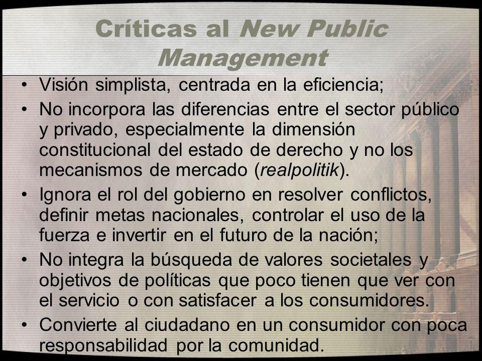 Críticas al New Public Management