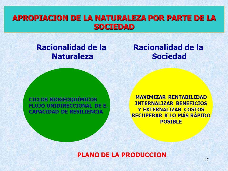 APROPIACION DE LA NATURALEZA POR PARTE DE LA SOCIEDAD