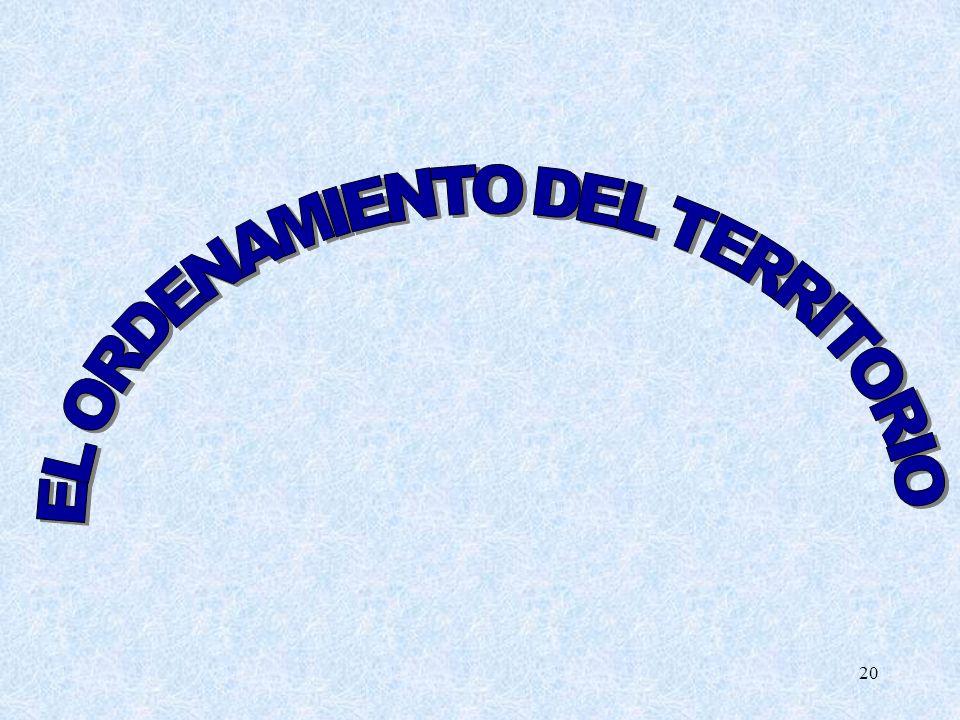 EL ORDENAMIENTO DEL TERRITORIO
