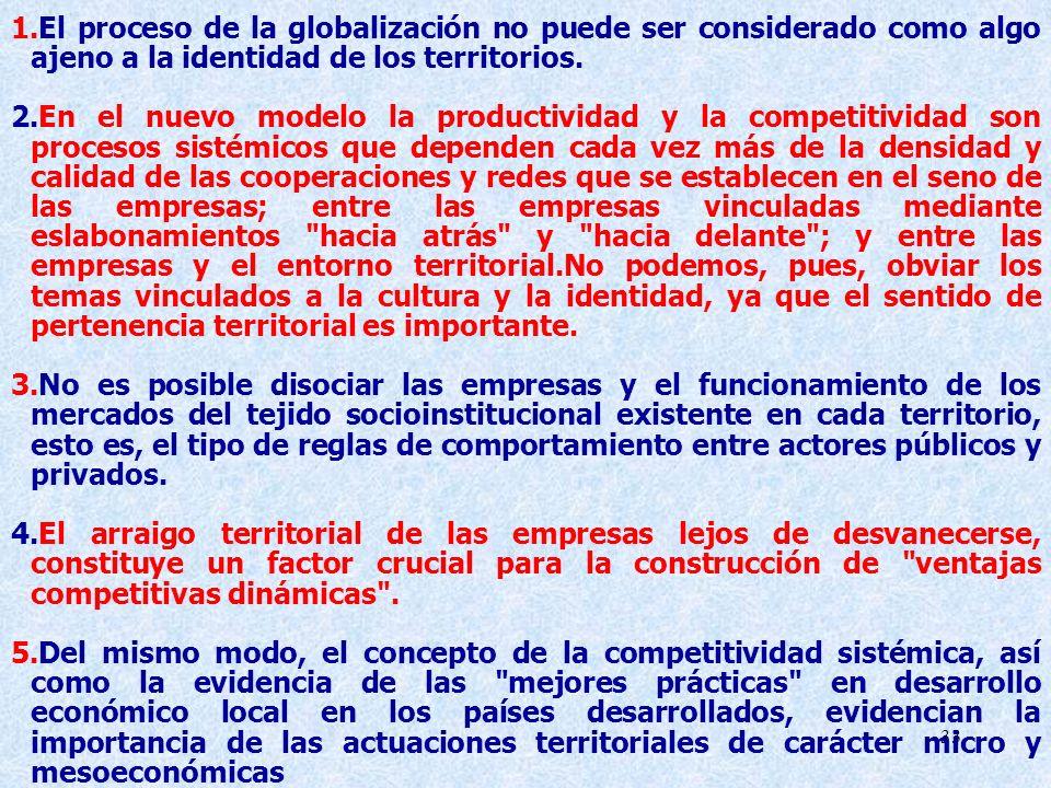 El proceso de la globalización no puede ser considerado como algo ajeno a la identidad de los territorios.