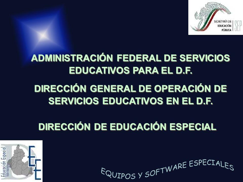 ADMINISTRACIÓN FEDERAL DE SERVICIOS EDUCATIVOS PARA EL D.F.