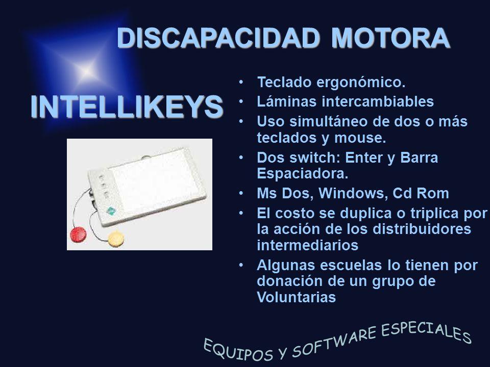INTELLIKEYS DISCAPACIDAD MOTORA Teclado ergonómico.