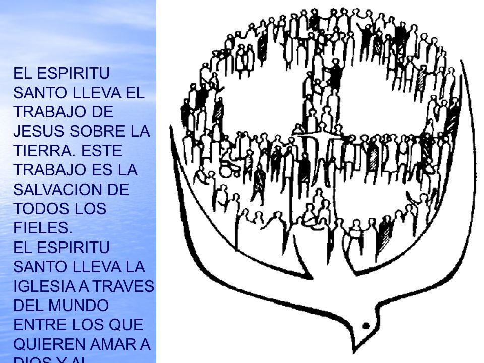 EL ESPIRITU SANTO LLEVA EL TRABAJO DE JESUS SOBRE LA TIERRA