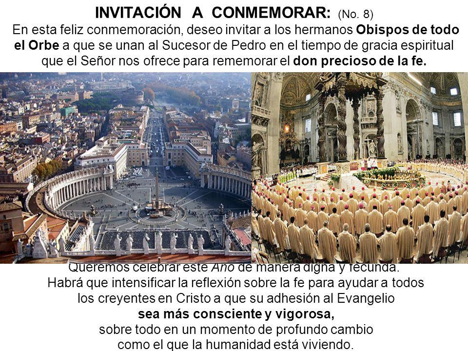 INVITACIÓN A CONMEMORAR: (No. 8)