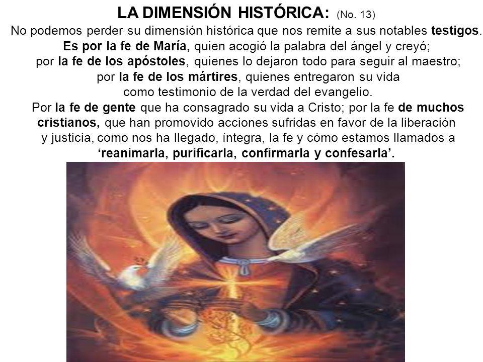 LA DIMENSIÓN HISTÓRICA: (No. 13)
