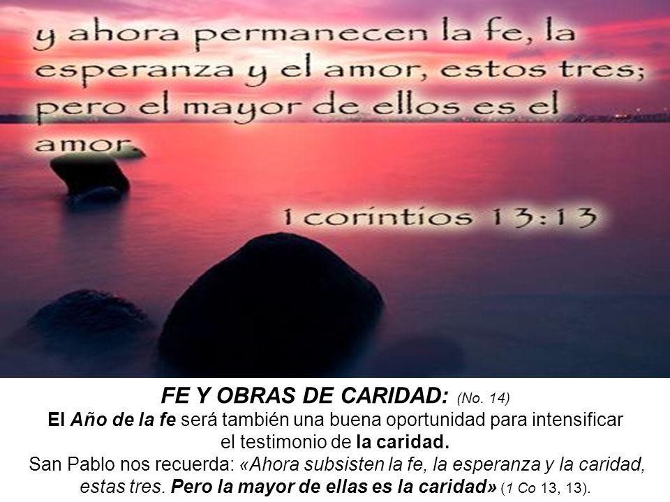 FE Y OBRAS DE CARIDAD: (No. 14)