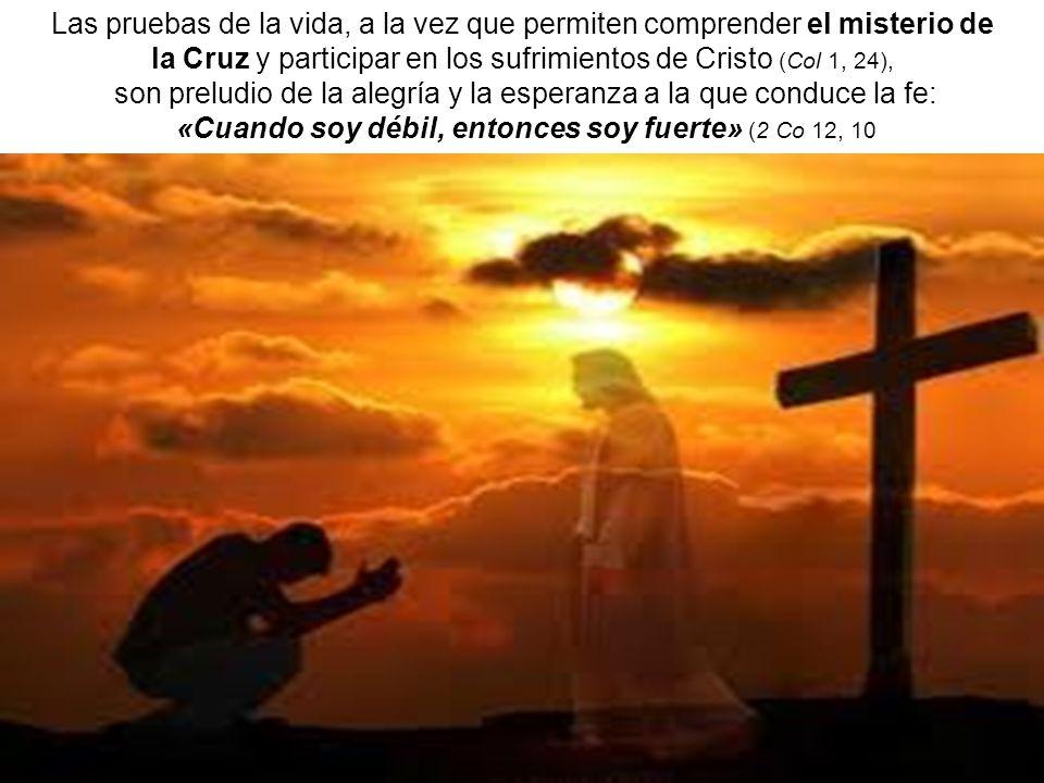 la Cruz y participar en los sufrimientos de Cristo (Col 1, 24),