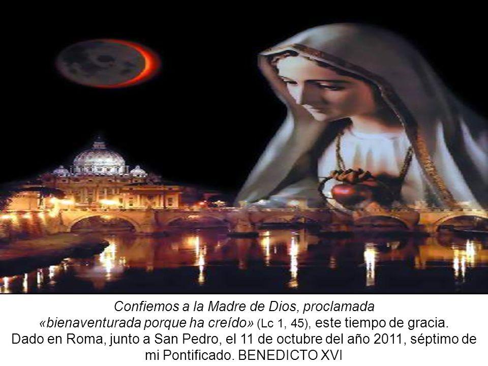 Confiemos a la Madre de Dios, proclamada