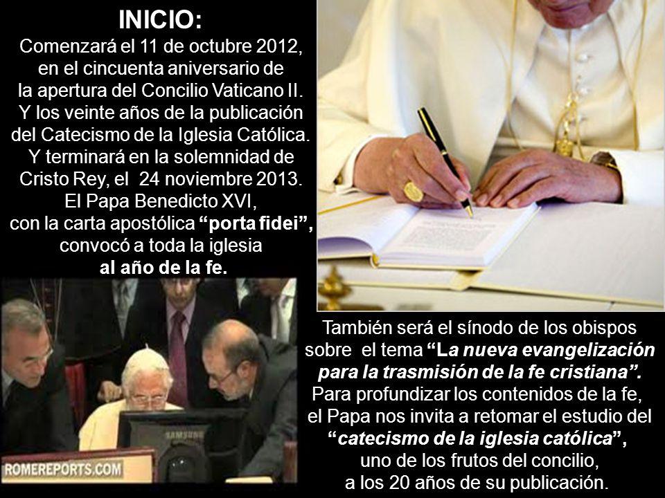 INICIO: Comenzará el 11 de octubre 2012,