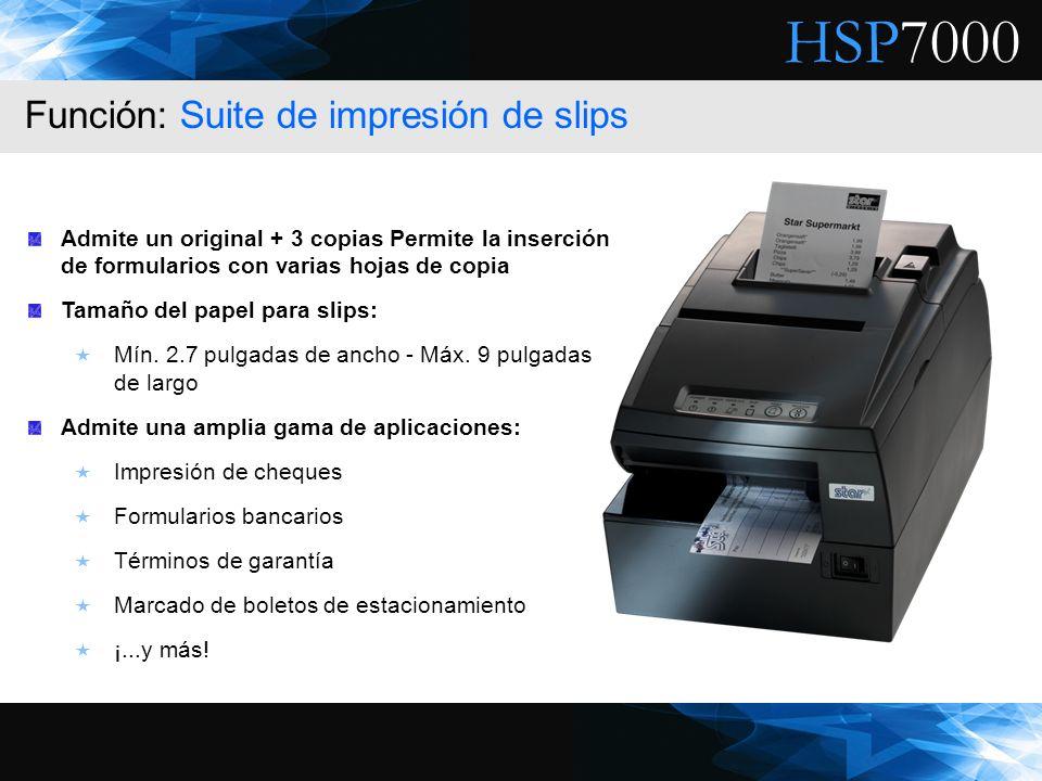 Función: Suite de impresión de slips