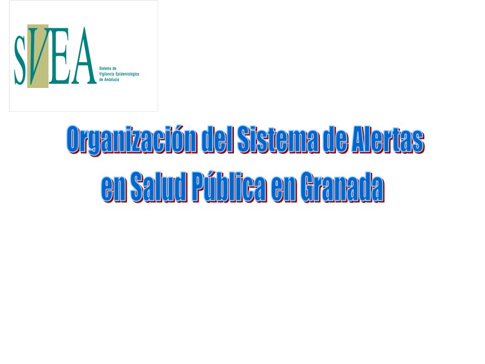 Organización del Sistema de Alertas