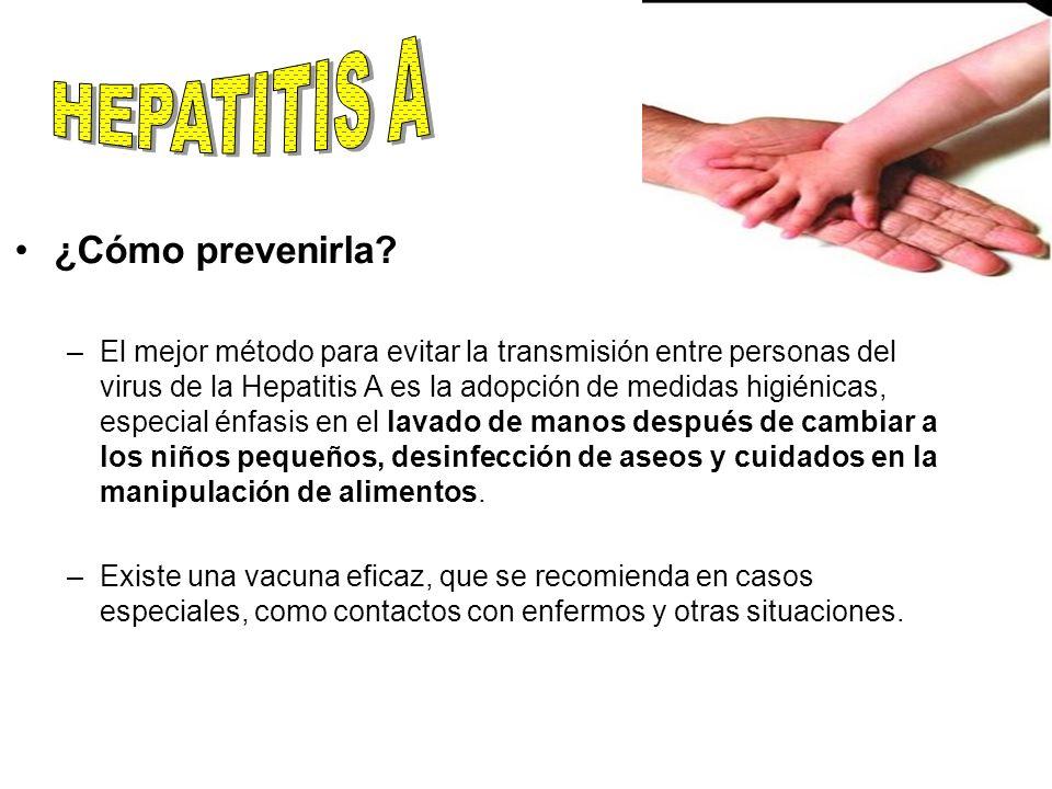 HEPATITIS A ¿Cómo prevenirla