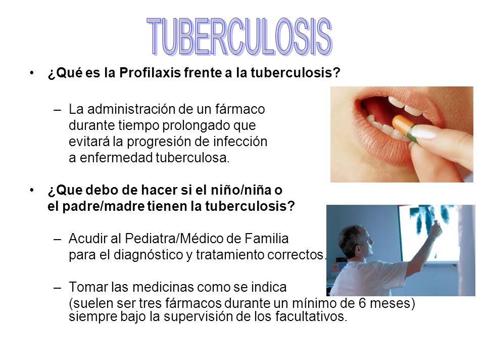 TUBERCULOSIS ¿Qué es la Profilaxis frente a la tuberculosis