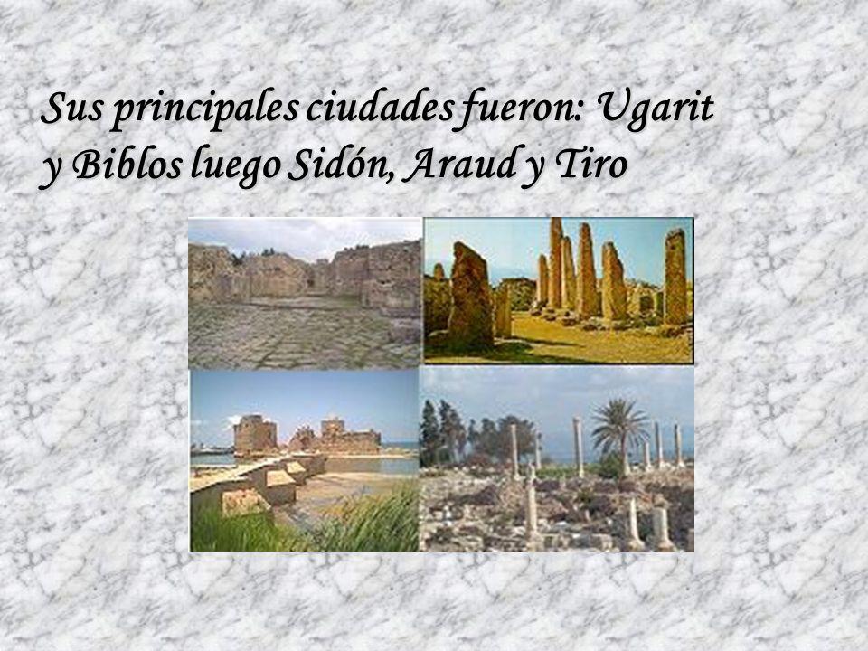 Sus principales ciudades fueron: Ugarit