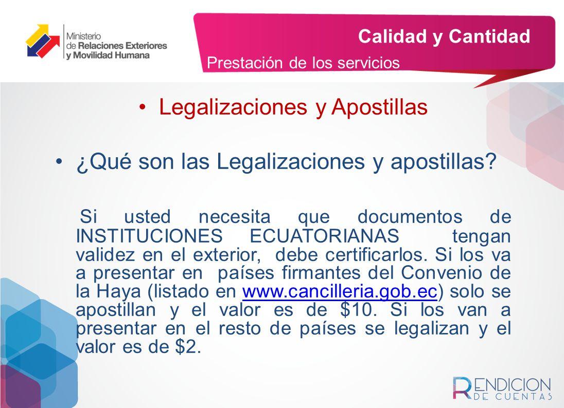 Legalizaciones y Apostillas