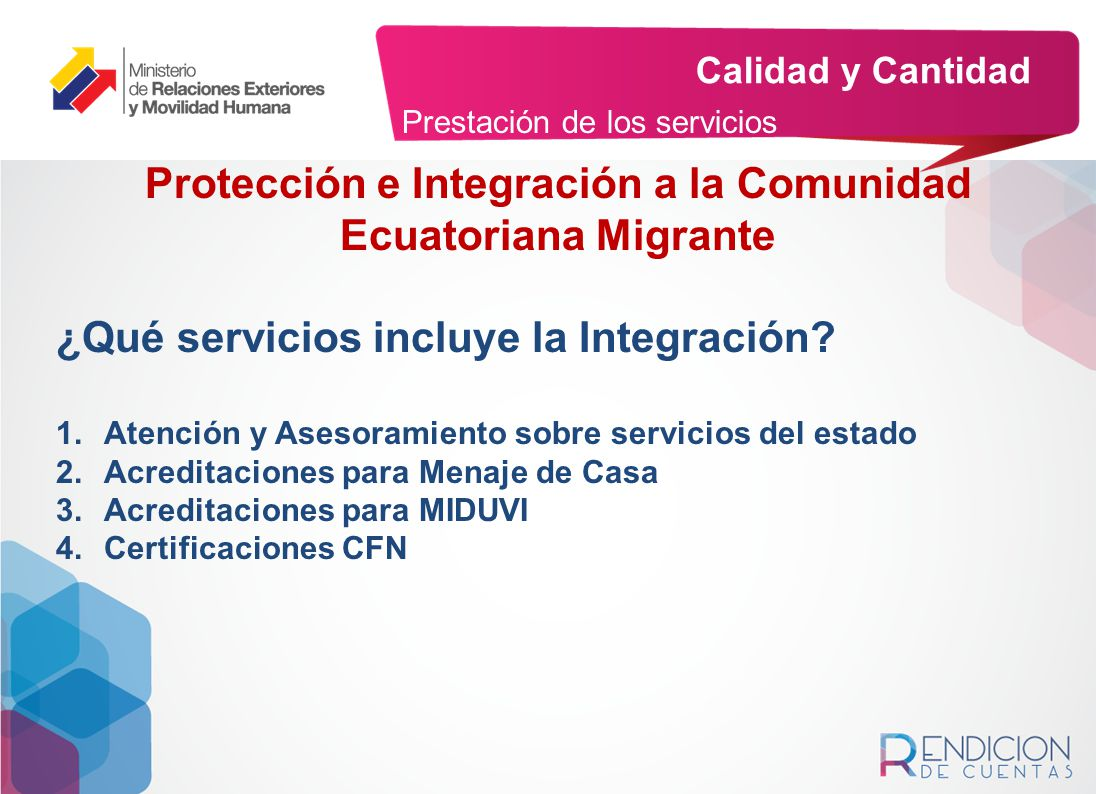 Protección e Integración a la Comunidad Ecuatoriana Migrante