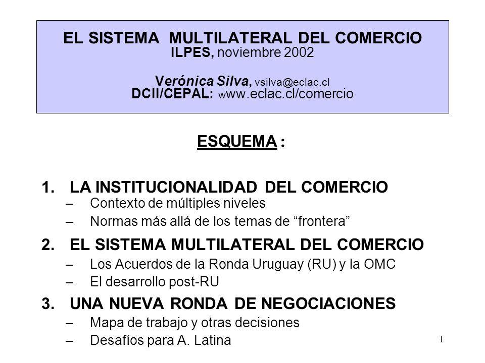 LA INSTITUCIONALIDAD DEL COMERCIO