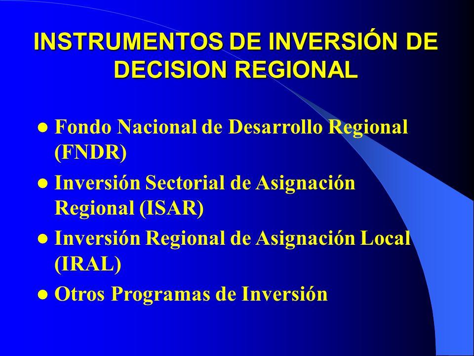 INSTRUMENTOS DE INVERSIÓN DE DECISION REGIONAL
