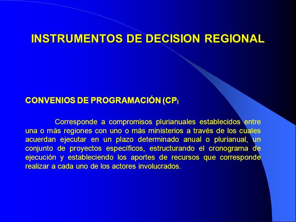 INSTRUMENTOS DE DECISION REGIONAL