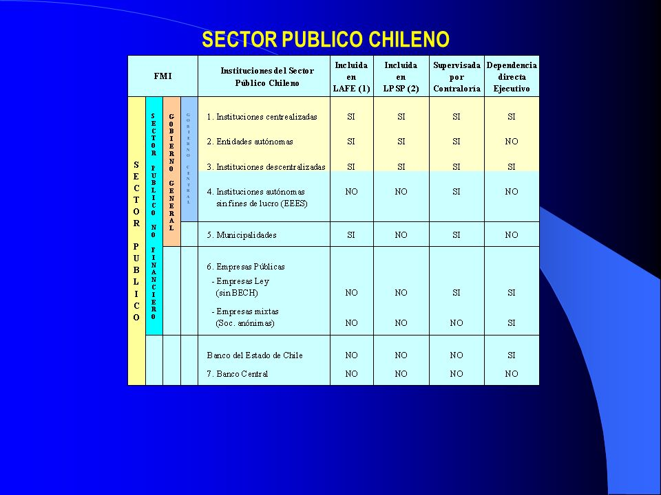 SECTOR PUBLICO CHILENO