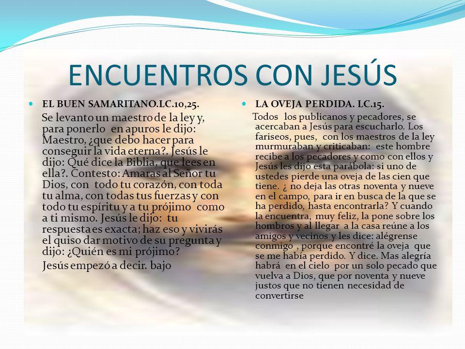 ENCUENTROS CON JESÚS Jesús empezó a decir. bajo