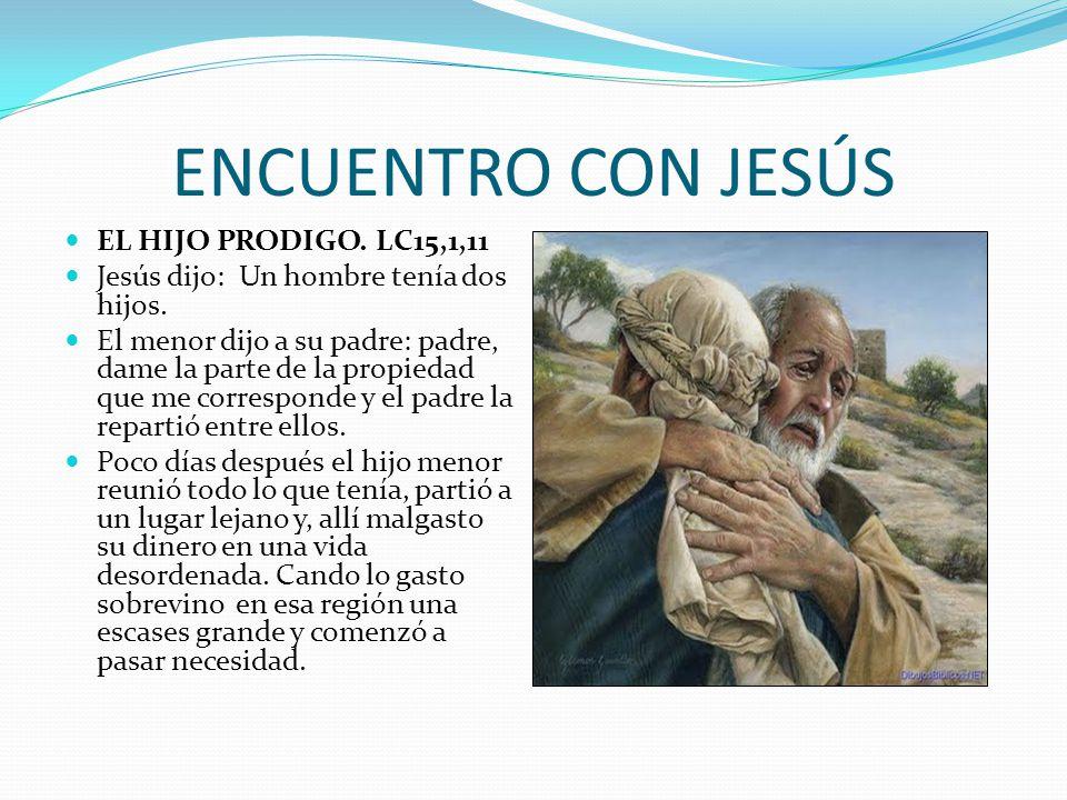 ENCUENTRO CON JESÚS EL HIJO PRODIGO. LC15,1,11