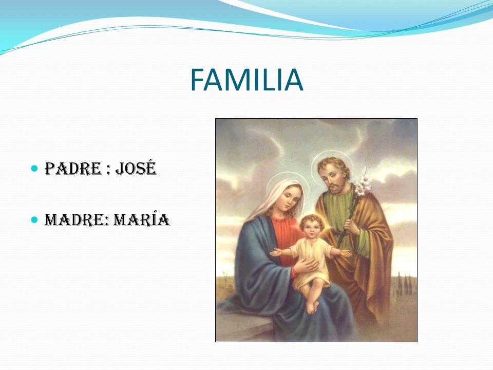 FAMILIA PADRE : José MADRE: María