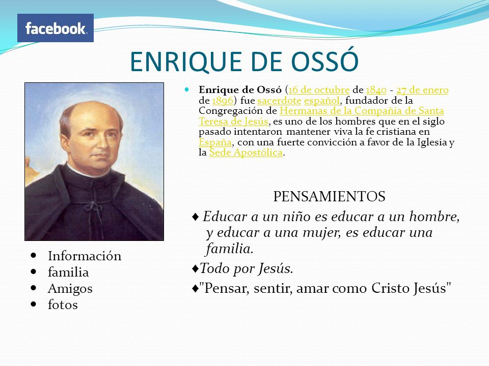 ENRIQUE DE OSSÓ PENSAMIENTOS