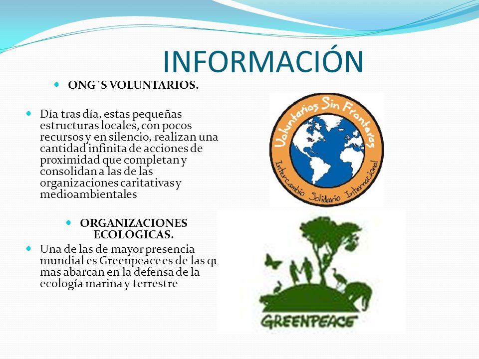 ORGANIZACIONES ECOLOGICAS.