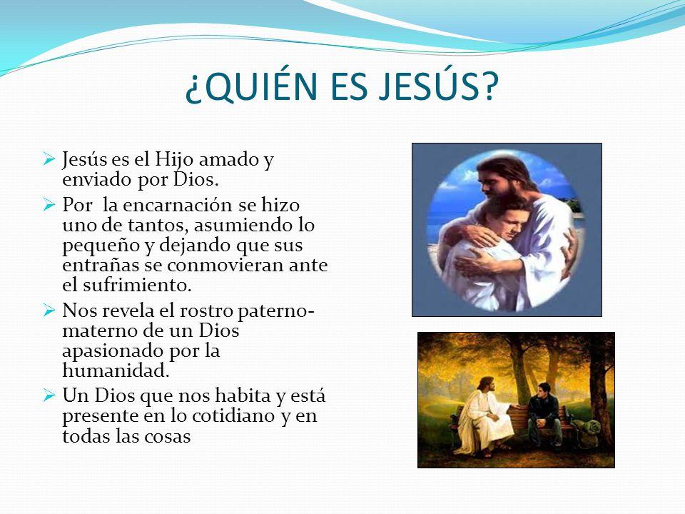 ¿QUIÉN ES JESÚS Jesús es el Hijo amado y enviado por Dios.