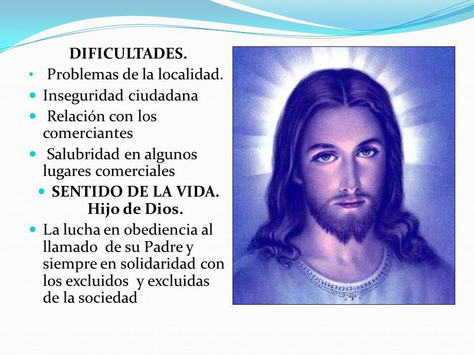SENTIDO DE LA VIDA. Hijo de Dios.