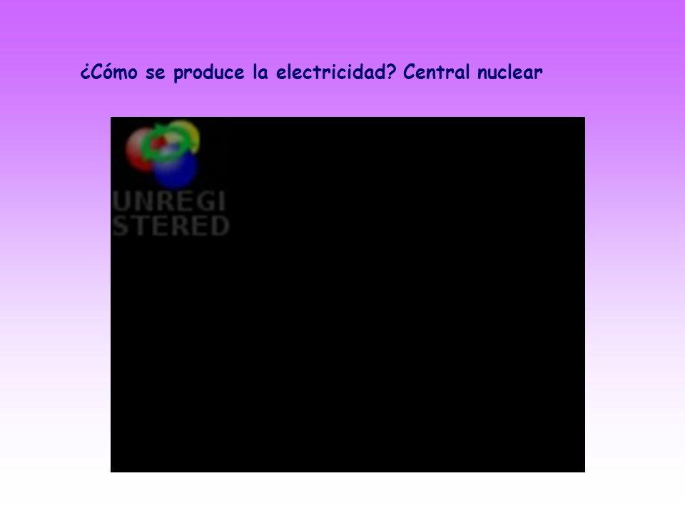 ¿Cómo se produce la electricidad Central nuclear