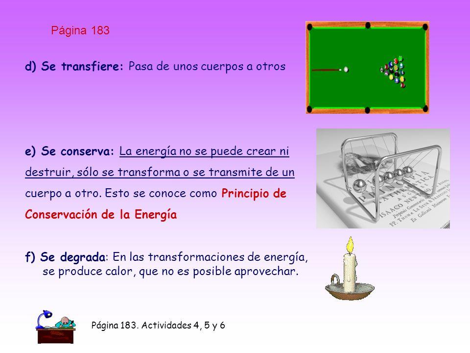 d) Se transfiere: Pasa de unos cuerpos a otros