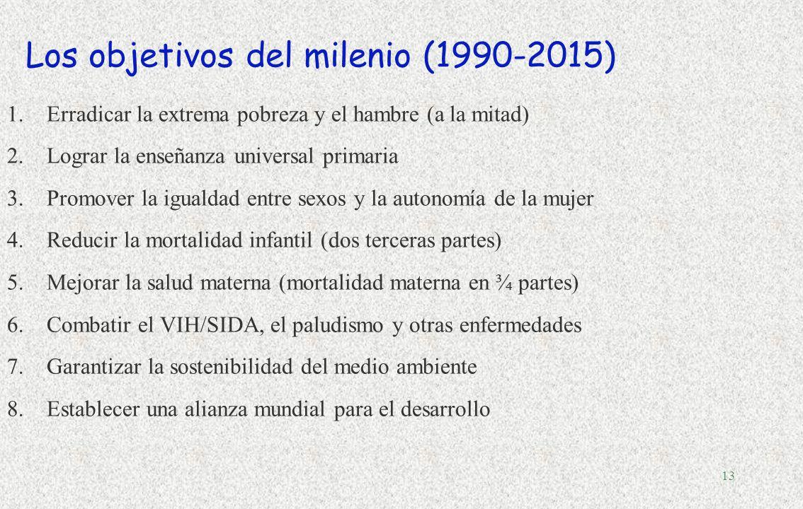 Los objetivos del milenio (1990-2015)