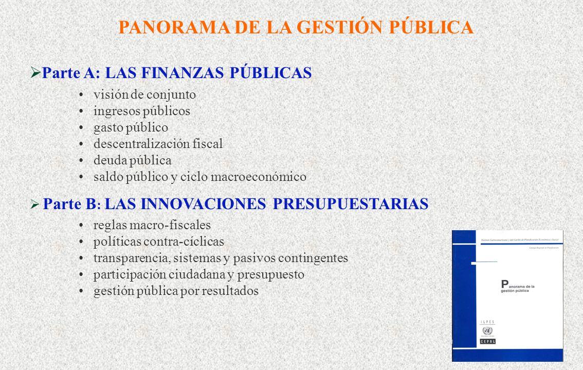 PANORAMA DE LA GESTIÓN PÚBLICA