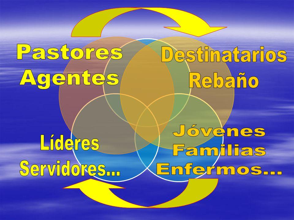 Pastores Agentes Destinatarios Rebaño Jóvenes Familias Enfermos... Líderes Servidores...