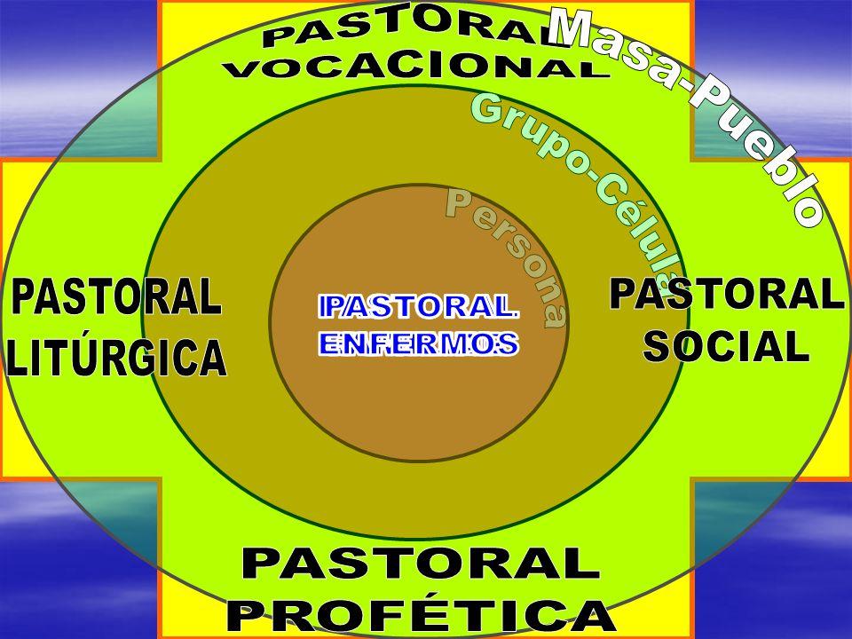 PASTORAL VOCACIONAL Grupo-Célula. Masa-Pueblo. Persona. PASTORAL. LITÚRGICA. PASTORAL. SOCIAL.