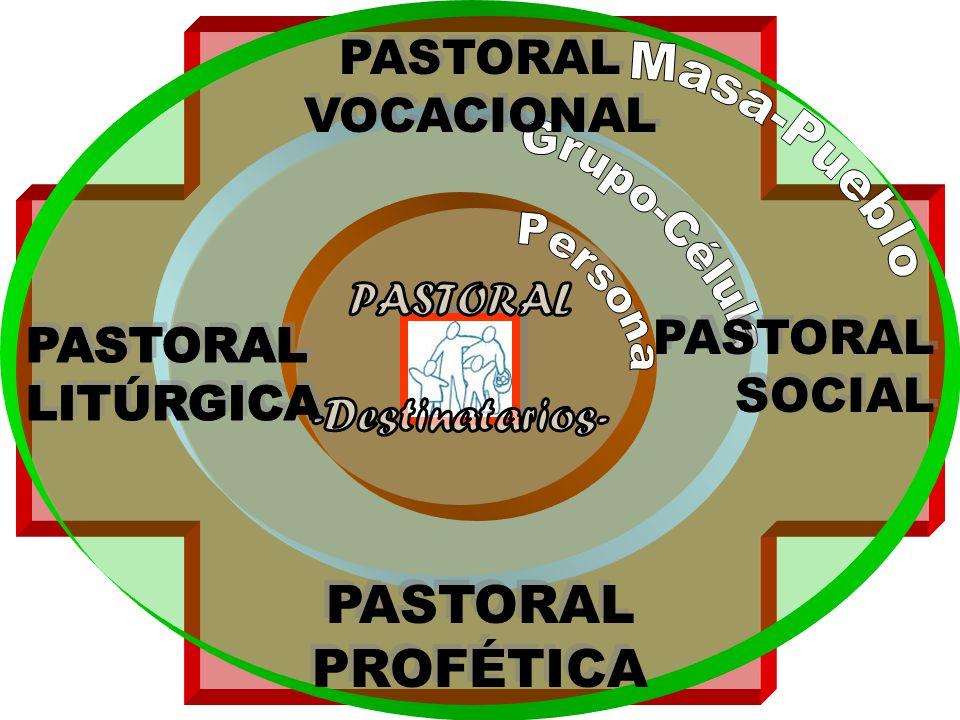 PASTORAL PROFÉTICA PASTORAL VOCACIONAL Masa-Pueblo Grupo-Célula