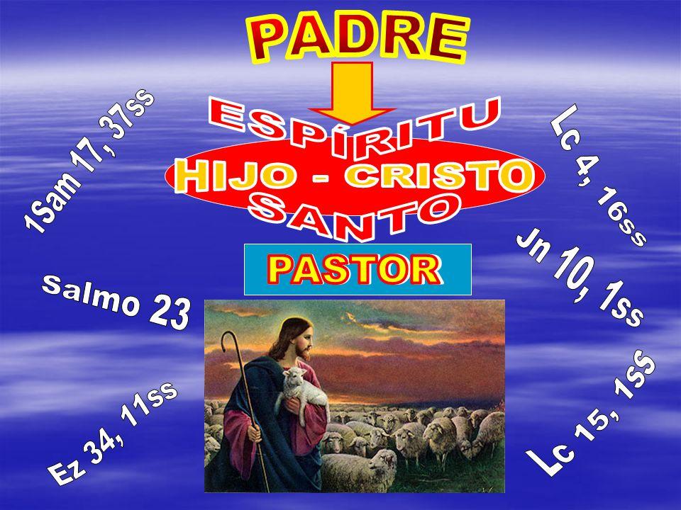 PADRE HIJO - CRISTO. ESPÍRITU. SANTO. 1Sam 17, 37ss. Lc 4, 16ss. PASTOR. PASTOR. Jn 10, 1ss.