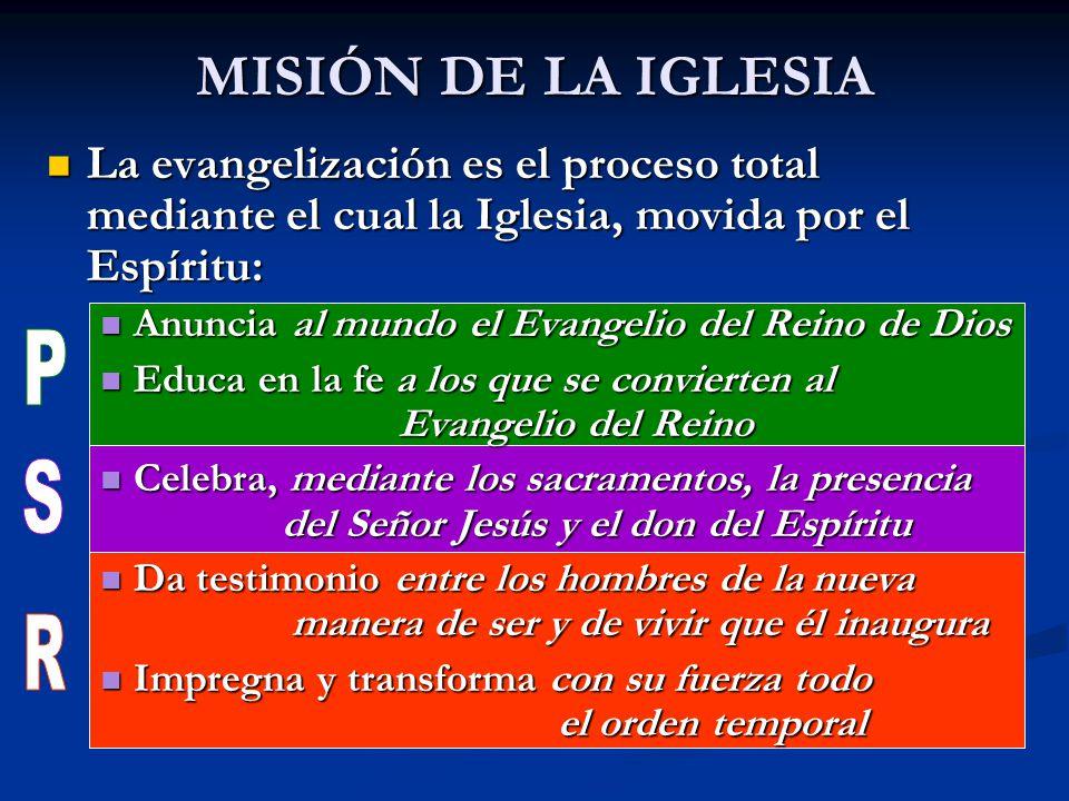 MISIÓN DE LA IGLESIA P S R