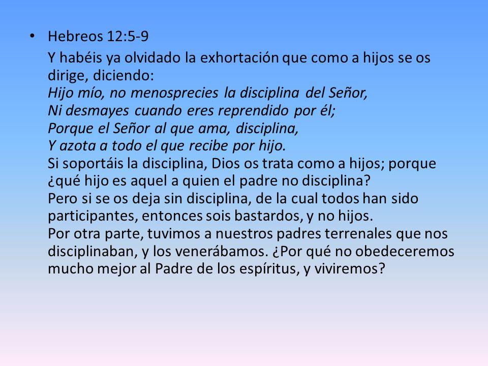 Hebreos 12:5-9
