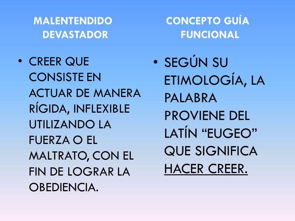 MALENTENDIDO CONCEPTO GUÍA DEVASTADOR FUNCIONAL