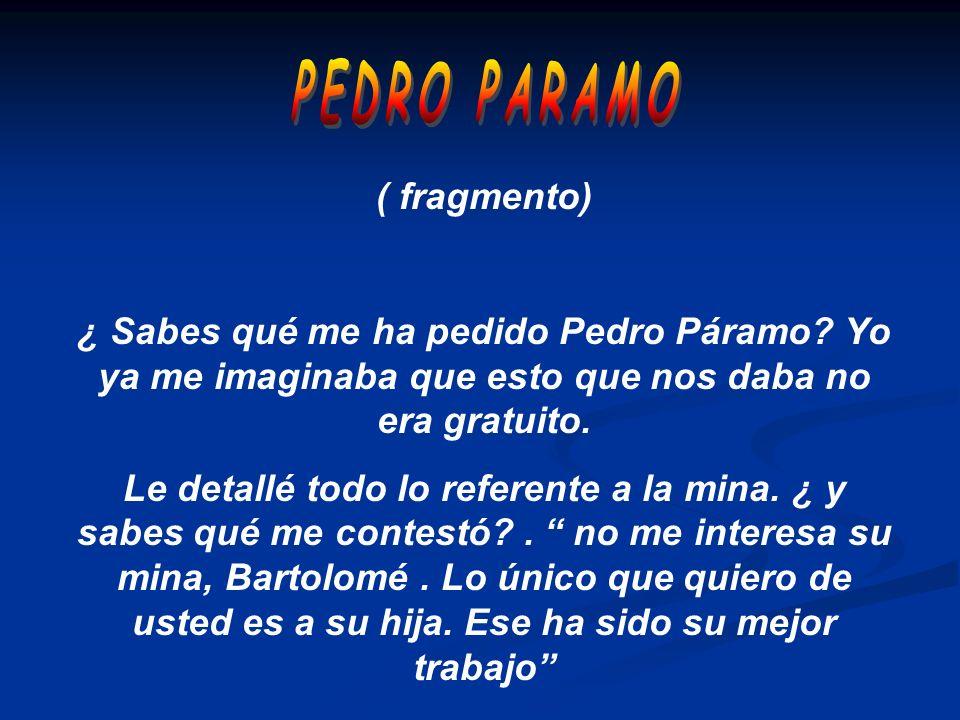 PEDRO PARAMO ( fragmento)